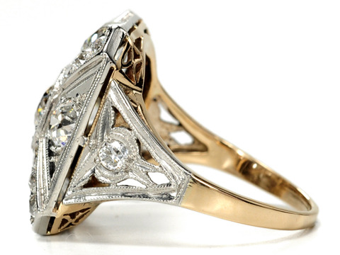 Big Bold Beautiful Art Deco Diamond Ring