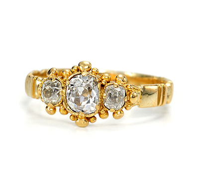 Antique Georgian Triple Play Diamond Ring