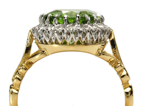 Now & Before: Peridot Diamond Cluster Ring