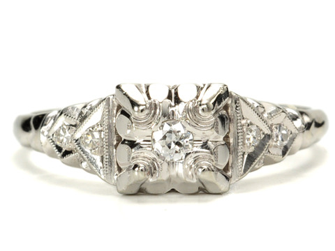 Mid 20th C. Lovely in a Diamond Ring
