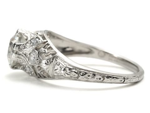 Radiance & Love: Diamond Platinum Engagement Ring