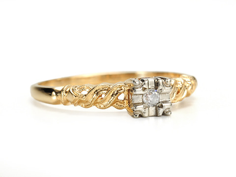 American Petite Perfection in a Vintage Diamond Ring