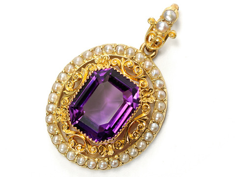 Purple Passion: Antique Amethyst Pendant