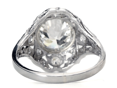 Love Afire - 2.04 c Vintage Engagement Ring