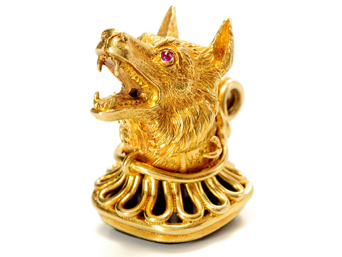 Grrreat Victorian Dog's Head Fob Pendant