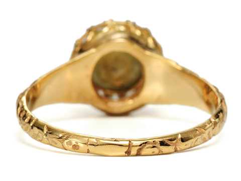 Antique Cat's Eye Chrysoberyl Diamond Ring