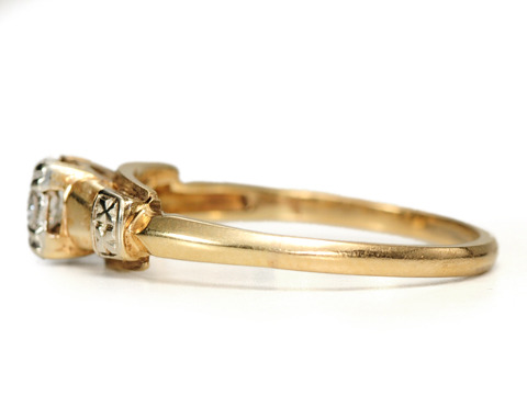Daring Dazzle - Vintage Engagement Ring
