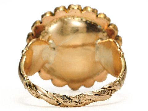 19th C. Antique Essex Crystal Terrier Dog Ring