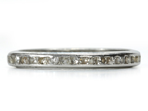 For Always: Platinum & Diamond Eternity Band