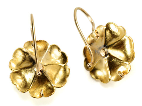 Edwardian Spring: Antique Diamond Flower Earrings