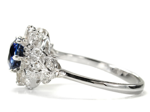 Latin Desire in a Sapphire & Diamond Ring