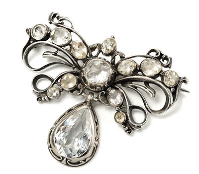 Early 18th C. Rock Crystal & Paste Brooch