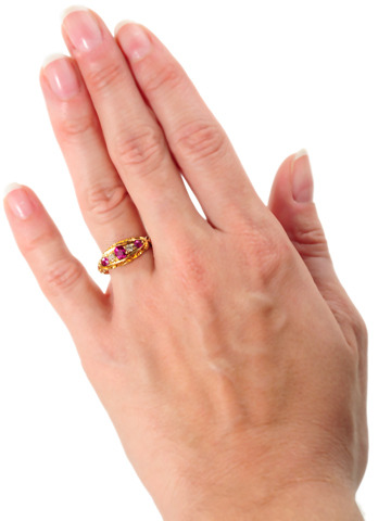 Edwardian Antique Ruby Diamond Ring