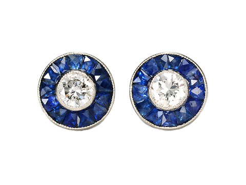 Sapphire & Diamond Estate Earrings