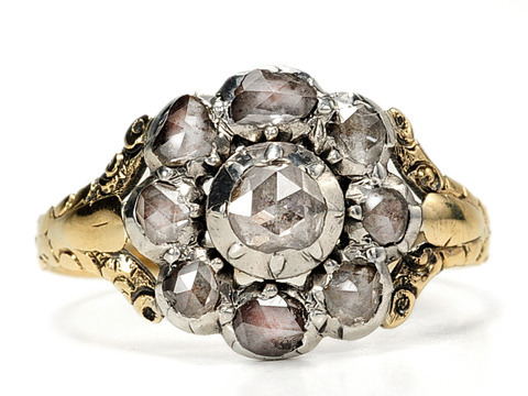 Georgian Flowers: Diamond Cluster Ring