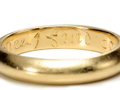 "18th C. Poesy Ring ""In Thee I Find Content of Mind"""