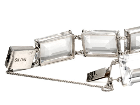 Art Deco Cool: Rock Crystal & Silver Bracelet