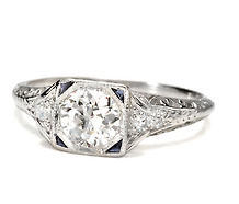Art Deco Extra: Diamond Ring E  Color