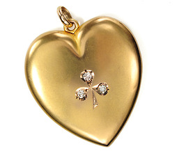 Love à la 1900: Diamond Heart Locket