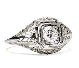 Art Deco Lace in a Diamond Ring