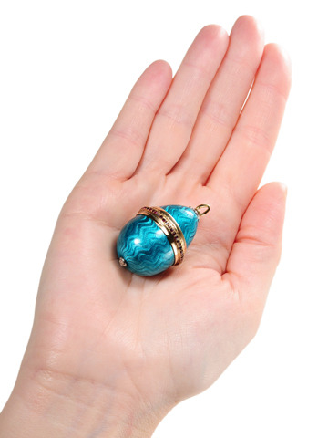 Breathtaking Antique Enamel Pendant Locket