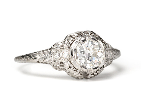 Smart Sophistication: Art Deco Diamond Ring