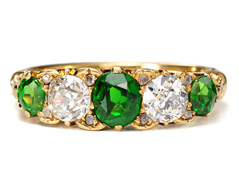 Rare Antique Demantoid Diamond Ring