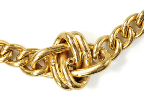 Edwardian Ecstasy: Diamond Love Knot Bracelet