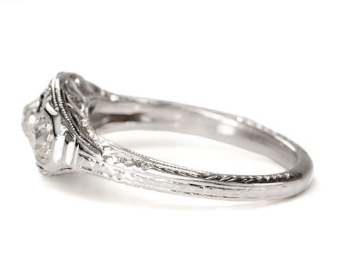 1920 Dance of the Diamond Engagement Ring