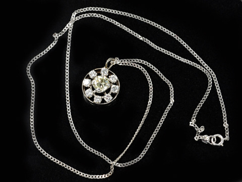 Champagne Pleasures: Diamond Cluster Necklace