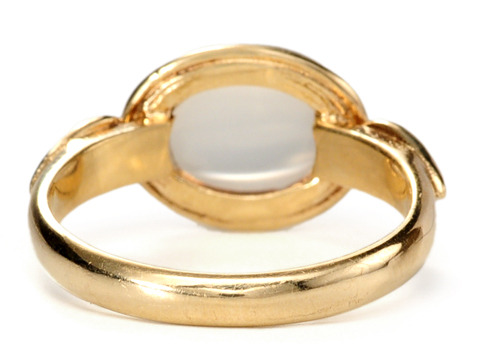 Moonbeams & Moonstones in a Gold Ring