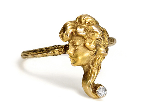 Gibson Girl in Gold & Diamonds