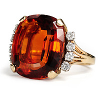 J. E. Caldwell Citrine Diamond Estate Ring