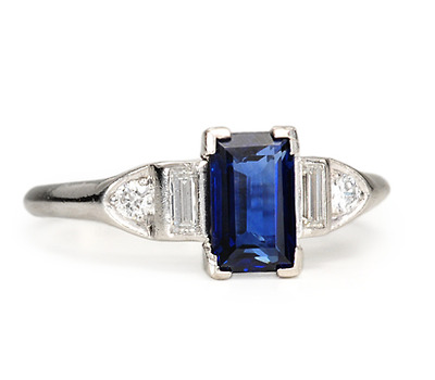 Blue on Blue: Sapphire Diamond Ring