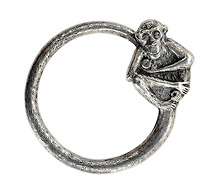Monkeyshines: Scarce Antique Sterling Key Ring