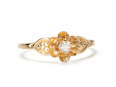 Sweet Flowers: Edwardian Diamond Ring