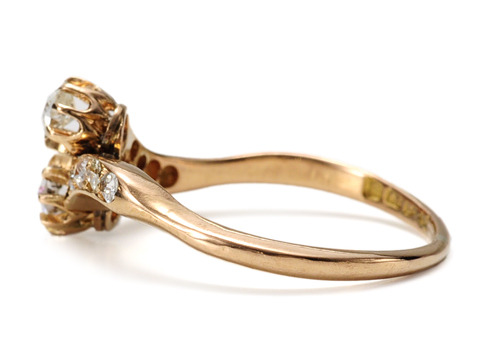 Captivating Edwardian Crossover Diamond Ring