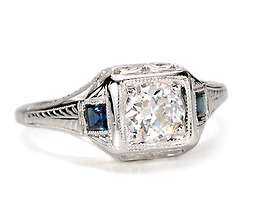 Delight in a Diamond & Sapphire Ring