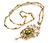 Art Nouveau Peridot Pearl Pendant Necklace