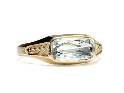 East Meets West - Vintage Aquamarine Ring