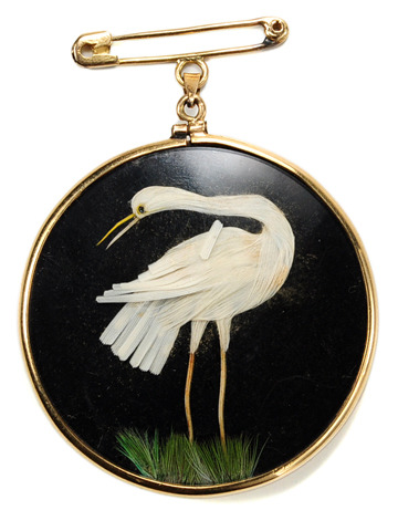 Edwardian Double Sided Bird Pendant
