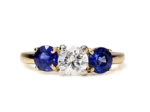 Tiffany Diamond & Sapphire Estate Ring