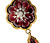Antique Garnet Diamond Locket Back Pendant