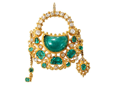 Key to My Heart – Georgian Emerald Pendant