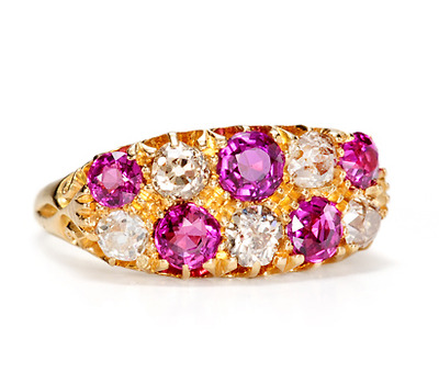 Edwardian Garden: Antique Diamond  Ruby Ring