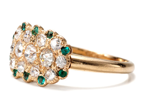 Art Deco Envy: Emerald Diamond Ring