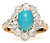 1920s Flash in a Turquoise Diamond Ring