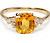 20th C. Yellow Sapphire & Diamond Ring
