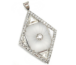 Art Deco Divine: Diamond Platinum Pendant