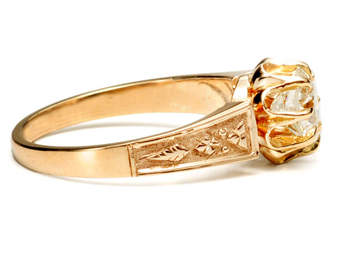 Edwardian Buttercup Diamond Ring of .80 c.